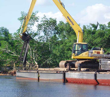 Dredging service being performed by Florida Marine Construction