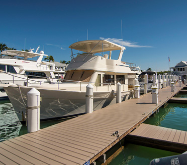 Private boat dock in Southwest Florida constructed by Florida Marine Construction